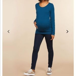 Indigo Blue Tall Skinny Maternity Jeans Long XL